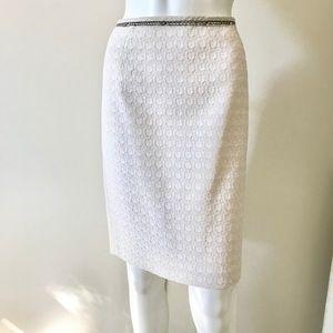 Elie Tahari Estilo Tweed Pencil Suit Skirt 6 NWT